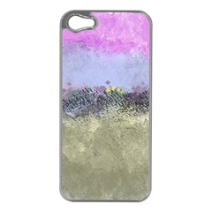 Abstract Garden In Pastel Colors Apple Iphone 5 Case (silver)