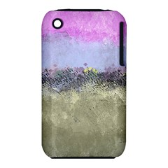 Abstract Garden in Pastel Colors Apple iPhone 3G/3GS Hardshell Case (PC+Silicone)
