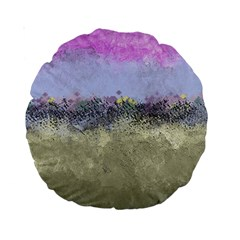 Abstract Garden In Pastel Colors Standard 15  Premium Round Cushions