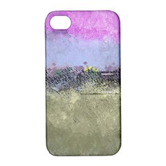 Abstract Garden in Pastel Colors Apple iPhone 4/4S Hardshell Case with Stand