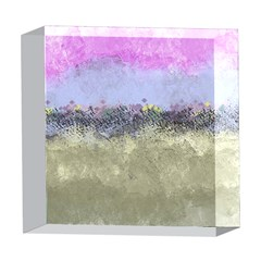 Abstract Garden in Pastel Colors 5  x 5  Acrylic Photo Blocks