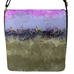 Abstract Garden In Pastel Colors Flap Messenger Bag (s)