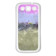 Abstract Garden in Pastel Colors Samsung Galaxy S3 Back Case (White)