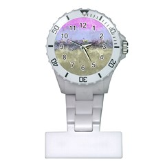 Abstract Garden in Pastel Colors Nurses Watches