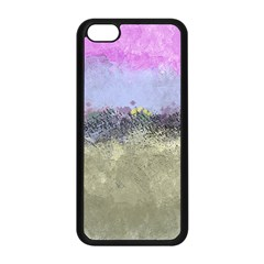 Abstract Garden in Pastel Colors Apple iPhone 5C Seamless Case (Black)