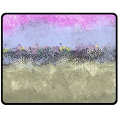 Abstract Garden in Pastel Colors Double Sided Fleece Blanket (Medium)
