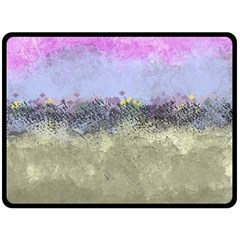 Abstract Garden In Pastel Colors Double Sided Fleece Blanket (large)