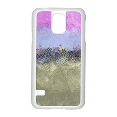 Abstract Garden In Pastel Colors Samsung Galaxy S5 Case (white)