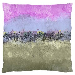 Abstract Garden in Pastel Colors Large Flano Cushion Cases (One Side)