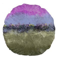 Abstract Garden in Pastel Colors Large 18  Premium Flano Round Cushions