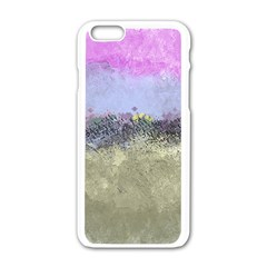 Abstract Garden in Pastel Colors Apple iPhone 6 White Enamel Case