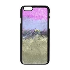 Abstract Garden In Pastel Colors Apple Iphone 6 Black Enamel Case