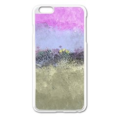 Abstract Garden In Pastel Colors Apple Iphone 6 Plus Enamel White Case
