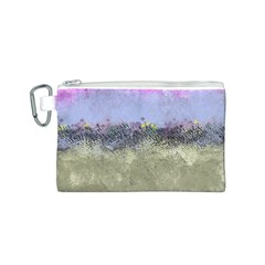 Abstract Garden in Pastel Colors Canvas Cosmetic Bag (S)