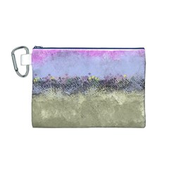 Abstract Garden in Pastel Colors Canvas Cosmetic Bag (M)