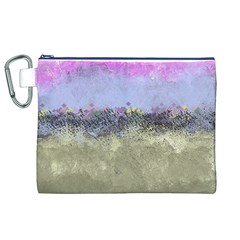 Abstract Garden in Pastel Colors Canvas Cosmetic Bag (XL)