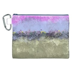 Abstract Garden in Pastel Colors Canvas Cosmetic Bag (XXL)