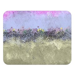 Abstract Garden in Pastel Colors Double Sided Flano Blanket (Large)
