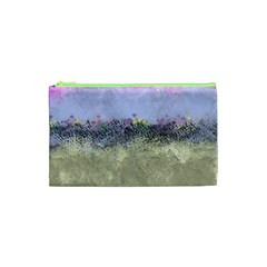 Abstract Garden In Pastel Colors Cosmetic Bag (xs)