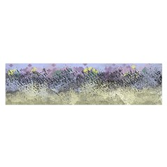 Abstract Garden in Pastel Colors Satin Scarf (Oblong)