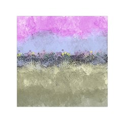 Abstract Garden In Pastel Colors Small Satin Scarf (square)