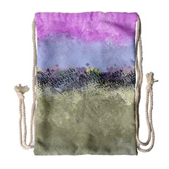 Abstract Garden in Pastel Colors Drawstring Bag (Large)