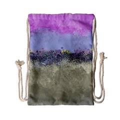 Abstract Garden in Pastel Colors Drawstring Bag (Small)