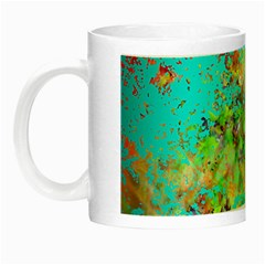 Abstract Garden In Aqua Night Luminous Mugs