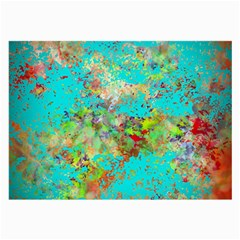 Abstract Garden in Aqua Large Glasses Cloth