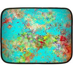 Abstract Garden in Aqua Fleece Blanket (Mini)