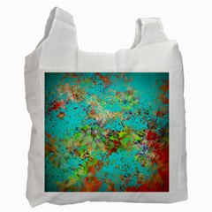 Abstract Garden in Aqua Recycle Bag (One Side)