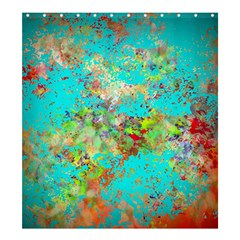 Abstract Garden In Aqua Shower Curtain 66  X 72  (large)