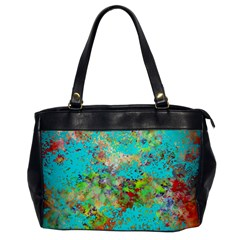 Abstract Garden In Aqua Office Handbags