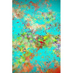 Abstract Garden in Aqua 5.5  x 8.5  Notebooks