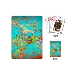 Abstract Garden in Aqua Playing Cards (Mini)