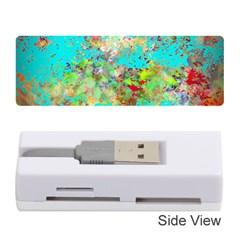 Abstract Garden In Aqua Memory Card Reader (stick)