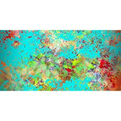 Abstract Garden In Aqua You Are Invited 3d Greeting Card (8x4)