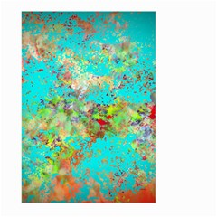 Abstract Garden in Aqua Large Garden Flag (Two Sides)
