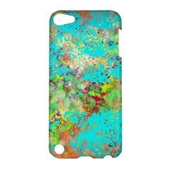 Abstract Garden In Aqua Apple Ipod Touch 5 Hardshell Case
