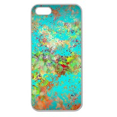 Abstract Garden in Aqua Apple Seamless iPhone 5 Case (Clear)