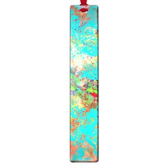 Abstract Garden In Aqua Large Book Marks