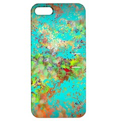 Abstract Garden in Aqua Apple iPhone 5 Hardshell Case with Stand