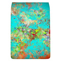 Abstract Garden in Aqua Flap Covers (S)