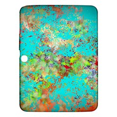 Abstract Garden In Aqua Samsung Galaxy Tab 3 (10 1 ) P5200 Hardshell Case
