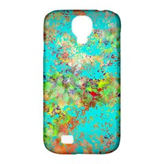 Abstract Garden In Aqua Samsung Galaxy S4 Classic Hardshell Case (pc+silicone)