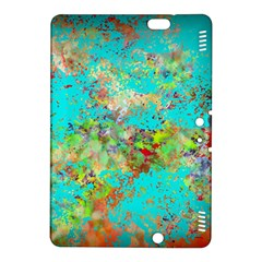 Abstract Garden In Aqua Kindle Fire Hdx 8 9  Hardshell Case