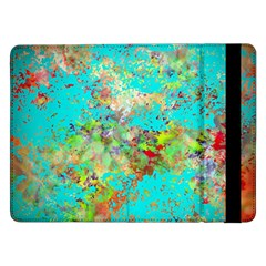 Abstract Garden in Aqua Samsung Galaxy Tab Pro 12.2  Flip Case