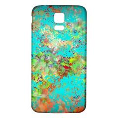 Abstract Garden In Aqua Samsung Galaxy S5 Back Case (white)
