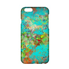 Abstract Garden in Aqua Apple iPhone 6/6S Hardshell Case