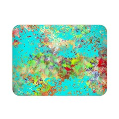 Abstract Garden In Aqua Double Sided Flano Blanket (mini)